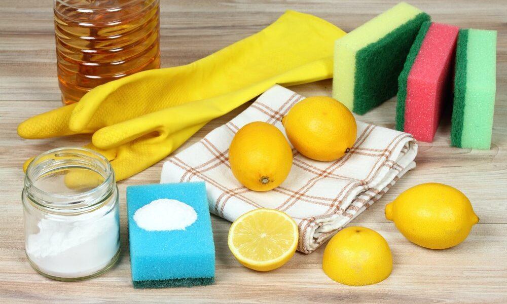 Algunos de los productos que se usan en limpieza ecológica